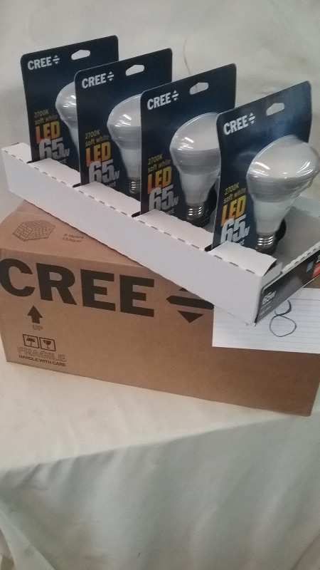 Cree 65W Equivalent Soft White (2700K) BR30 LED Flood Light Bulb 8pc