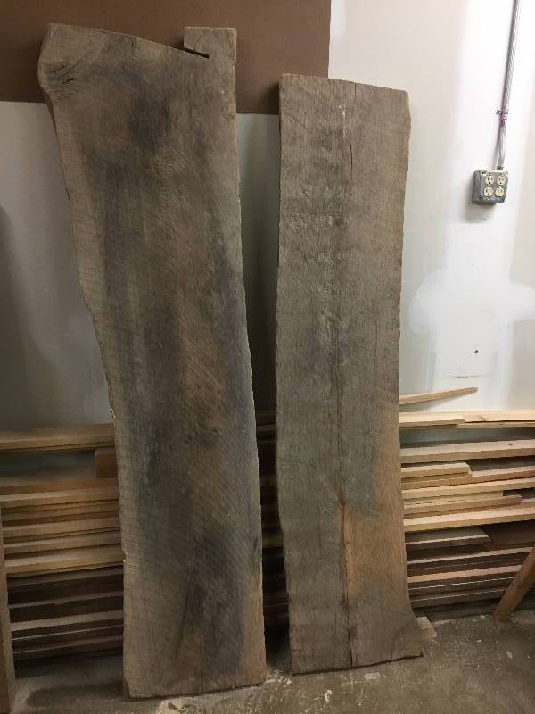 Thick & Wide Red Oak Slabs
