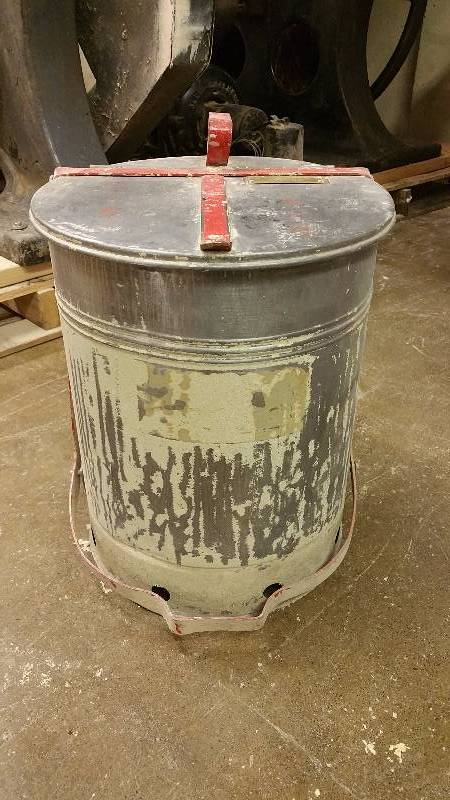 Vintage Fire Waste Can