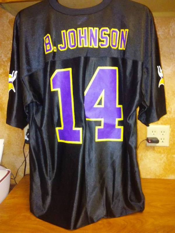 MN Vikings NFL Black Jersey #14  XL