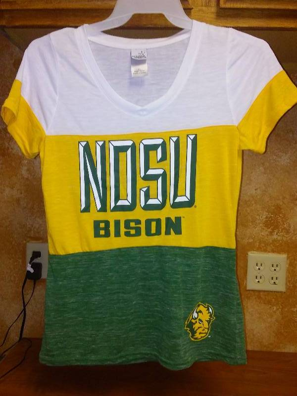 New NDSU BISON NCAA Football T Tee shirt Womens Large