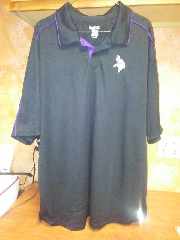 NFL MN Vikings Polo shirt XL Wick Away