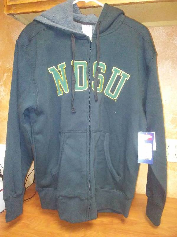 NEW NDSU BISON NCAA Black Hoodie Sweatshirt Large