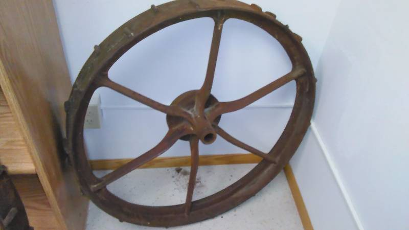Antique Iron Wheel, 34 Inch Diameter (1)