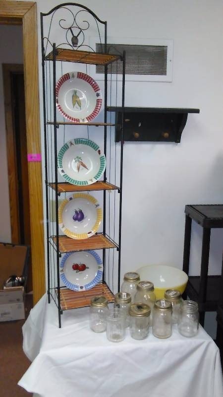 Metal and Bamboo 5-shelf unit