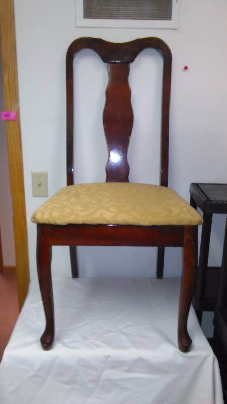 Wood Side Chairs with Cherry Wood Finish (2)