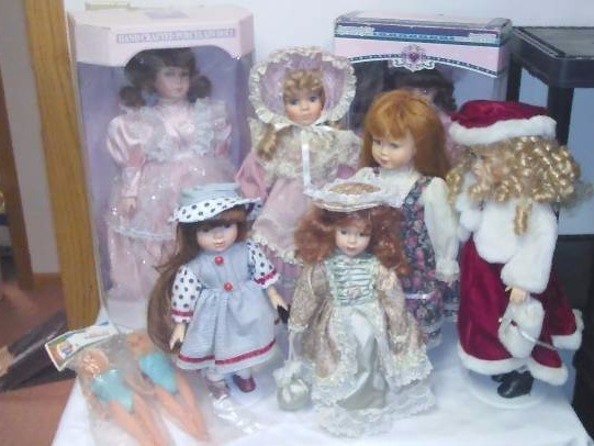 Porcelain Dolls (9) New in Box