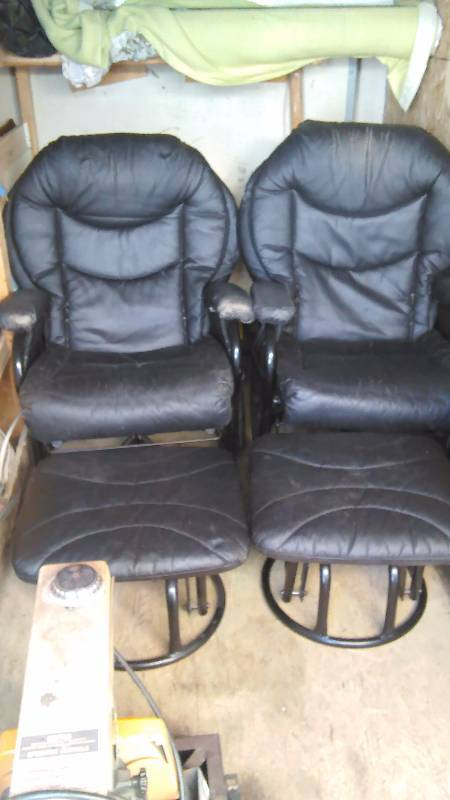 Swivel/Reclining/Rocking Chairs with ottoman (2)