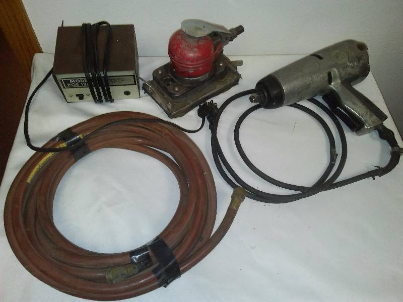 Impact Wrench, Power supply regulator, air sander and hose