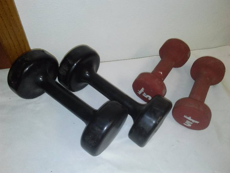 Hand Weights (4) 10 lb. (2) and 5 lb. (2)