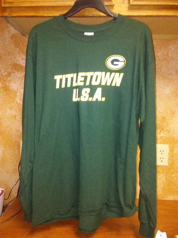 NEW Green Bay Packers Titletown USA Long Sleeve Large