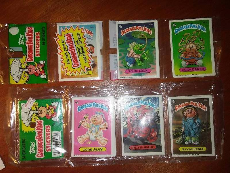 NEW Garbage Pail Kids Stickers 1986 trading cards 2-24 packs
