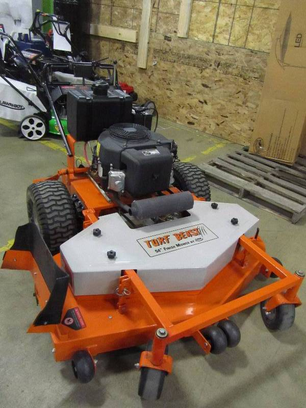 Turf Beast 54 in. 22-HP Subaru Commercial Duty Dual-Hydro Finish Cut Commercial Walk Behind Mower with Floating Deck