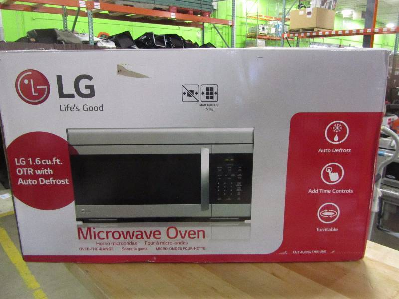 LG 1.6 cu. ft. Over the Range Microwave Oven in Stainless Steel