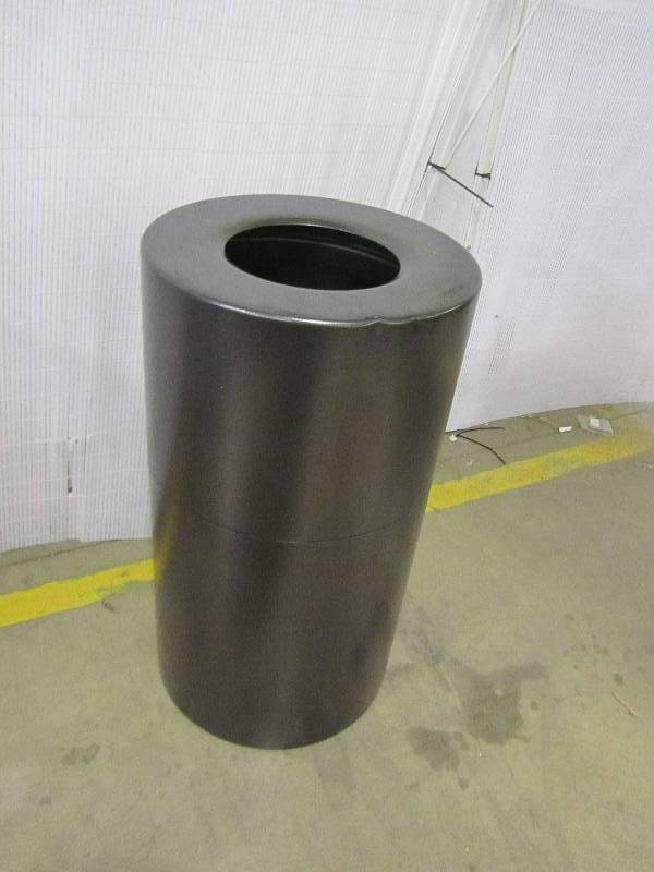 Genuine Joe 35 Gal. Grey Round Open Top Trash Can