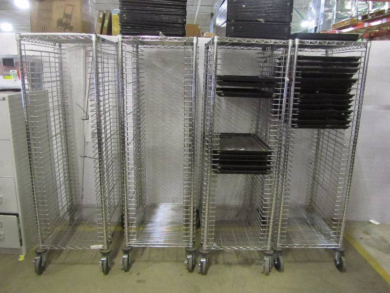 (4) Serving Racks (brand unknown)