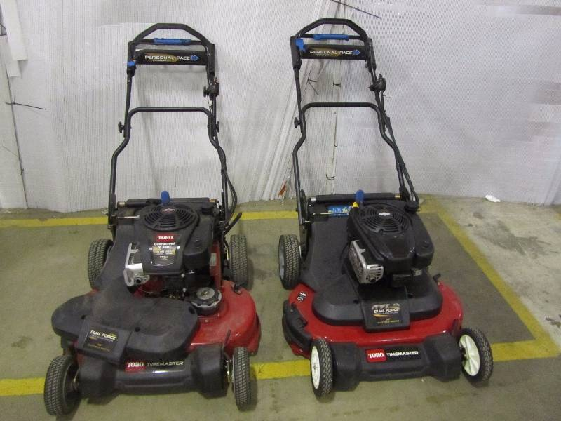 (2) Toro TimeMaster 30 in. Briggs & Stratton Electric Start Walk-Behind Gas Self-Propelled Mower