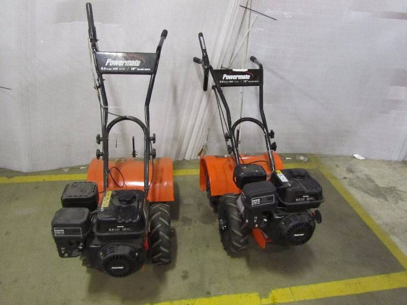 (2) Powermate 18 in. 196cc 4-Cycle Rear-Tine Gas Tiller