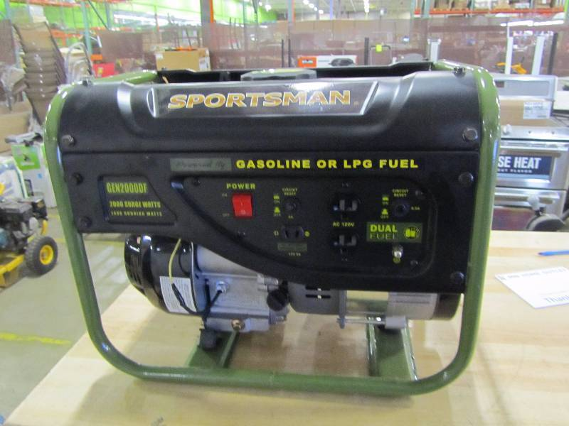 Sportsman 2,000-Watt Dual Fuel Powered Portable Generator with Runs on LPG or Regular Gasoline