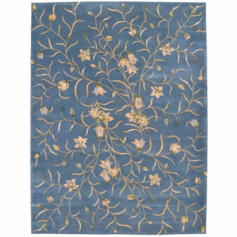 Nourison Julian Light Blue 8 ft. x 11 ft. Area Rug