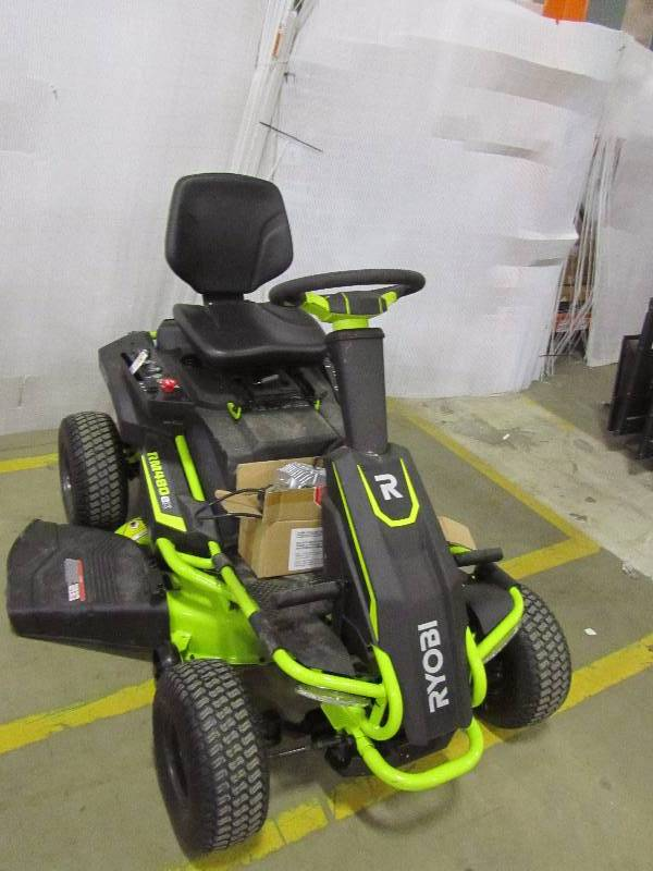Ryobi 38 In Battery Electric Riding Lawn Mower Mn Home