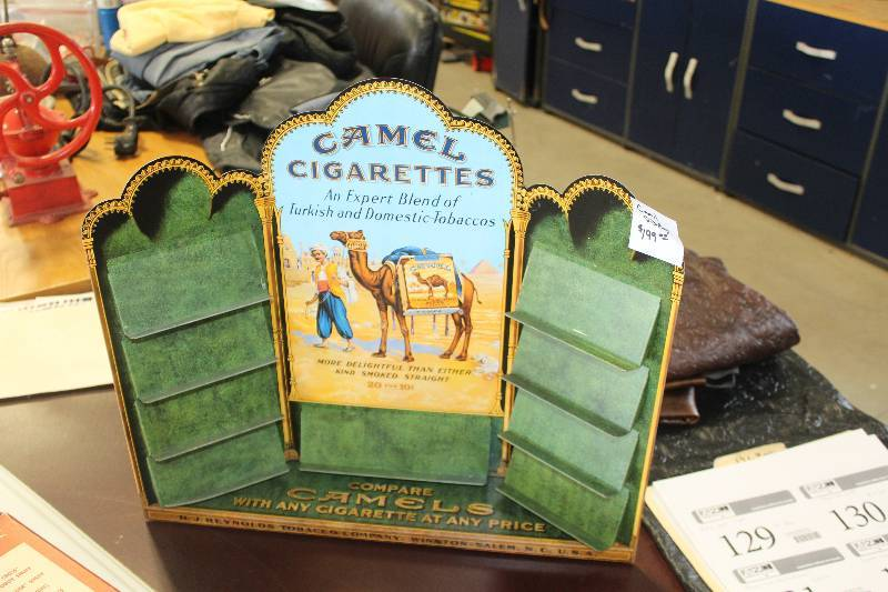 Camel Cigarettes Metal Display Case | HUGE Vintage