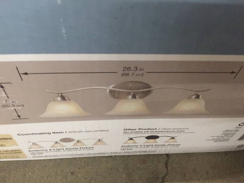 Hampton Bay 2 Light Chrome Bath Light 05659: KX REAL DEALS MINNEAPOLIS AUCTION PATIO HOUSEWARES