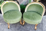PAIR OF ANTIQUE FRENCH BOUDOIR CHAIRS