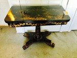 ANTIQUE BLACK GAME TABLE