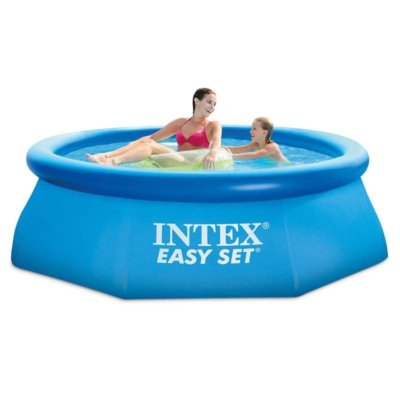 Damaged Box Intex 8ft X 30in Easy Set Pool Set with Filter Pump