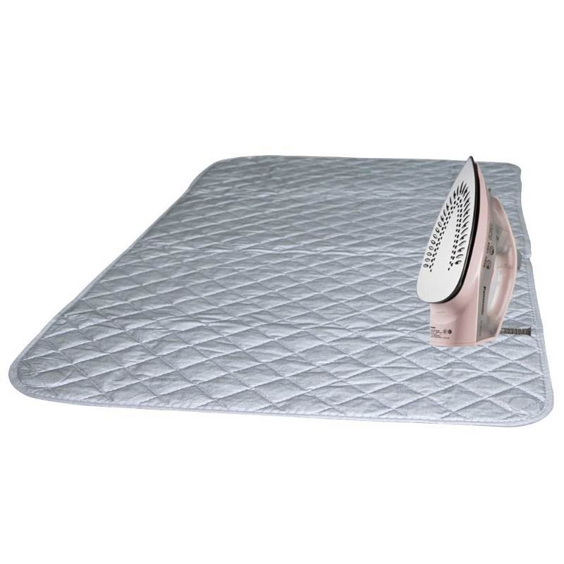 New Ironing Blanket, Bukm Magnetic Mat Laundry Pad, Quilted Washer Dryer Heat Resistant Pad, Ironing Board Covers (33 1/2 x 19, Grey) (Grey)