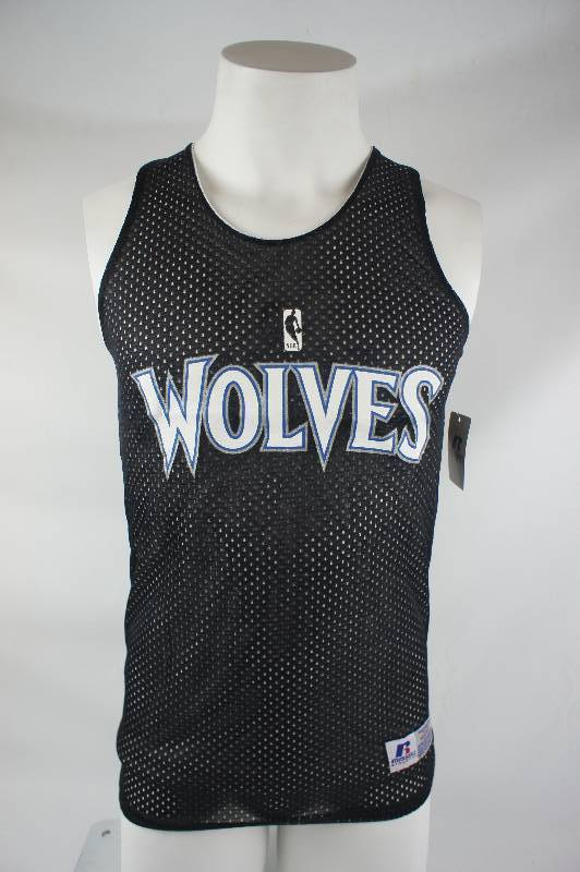 New Minnesota Timberwolves - Russell Athletic Black and White Reversable Practice Jersey - Size Youth Medium