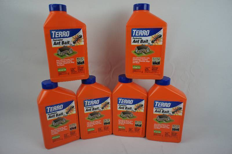 Lot of 6 Bottles of Terro Perimeter Antique Bait Plus, 2-Lbs Per Bottles
