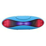 New Bluetooth Wireless Ultra Portable LED Football Shaped Speaker - Color ( Blue ) Model BSP15L