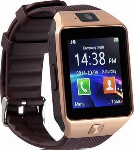 New DZ09 Bluetooth Smart Wrist Watch with Camera and Sim Card Slot - Rose Gold