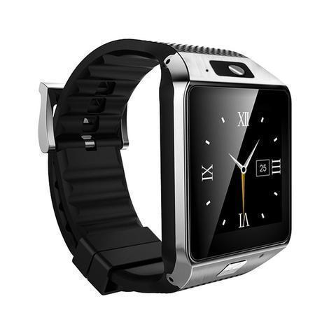 New DZ09 Bluetooth Smart Wrist Watch with Camera and Sim Card Slot - Silver