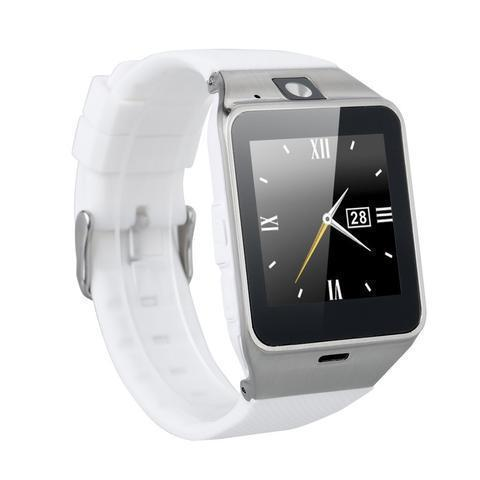 New DZ09 Bluetooth Smart Wrist Watch with Camera and Sim Card Slot - White