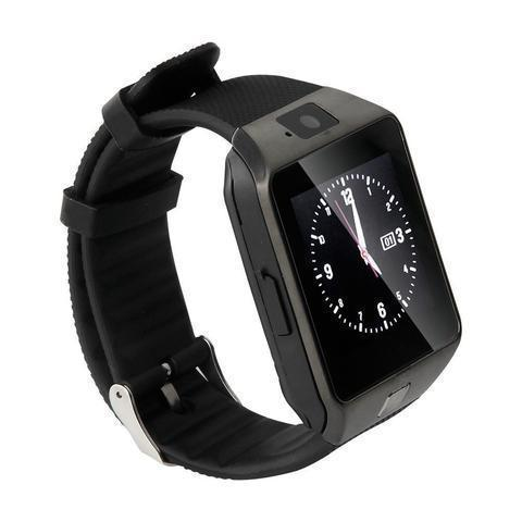 New DZ09 Bluetooth Smart Wrist Watch with Camera and Sim Card Slot - Black