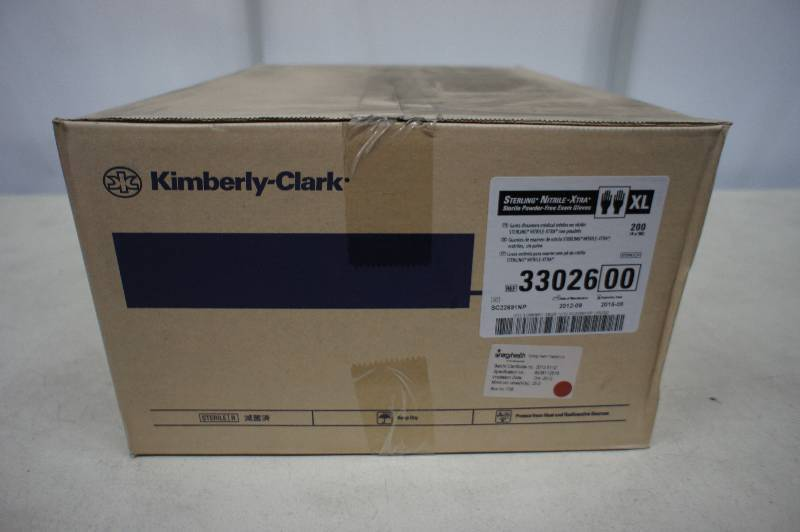 1 Case of Kimberly Clark - Sterling Nitrile - Xtra Sterile Powder Free Exam Gloves Size X- Large - 200 Pairs of Gloves