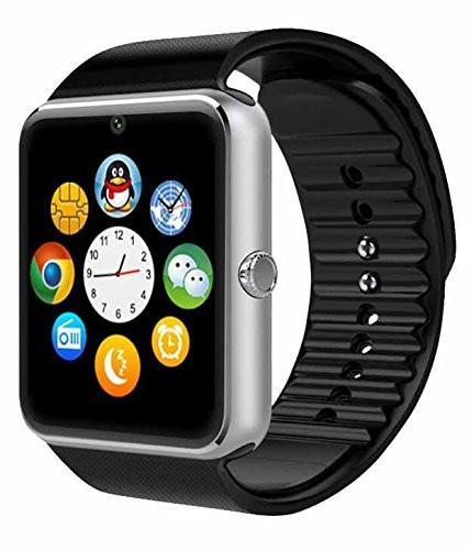 New GT08 Bluetooth Smart Wrist Watch with Camera in Silver