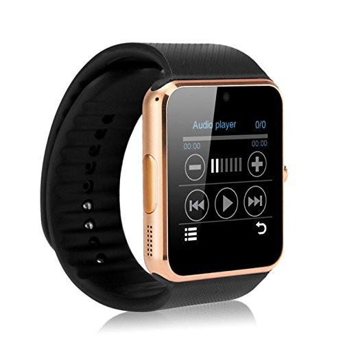 New GT08 Bluetooth Smart Wrist Watch with Camera in Gold