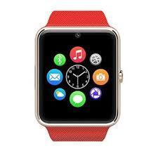 New GT08 Bluetooth Smart Wrist Watch with Camera - Red