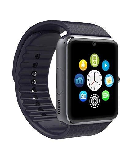 New GT08 Bluetooth Smart Wrist Watch with Camera - Black