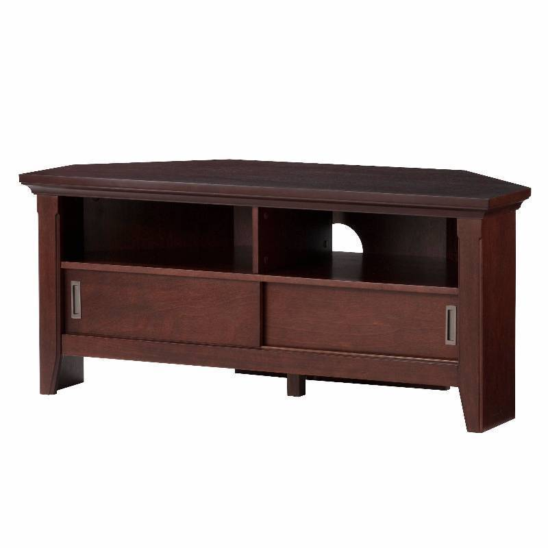 New Avington Corner TV Stand Dark Tobacco (48