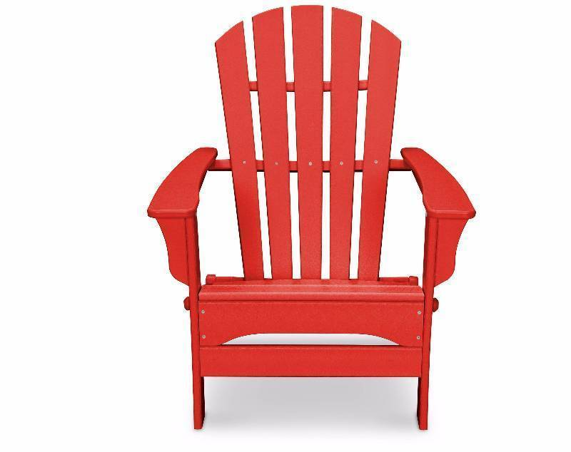 New POLYWOOD® St Croix Patio Adirondack Chair - Red