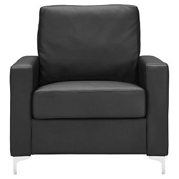 New Archer Bonded Leather Chair - Black