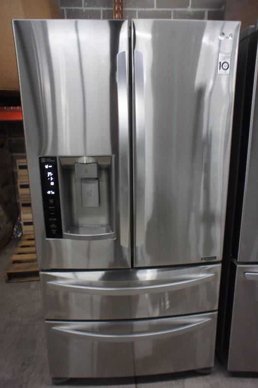 New - Scratch & Dent LG Model # (LMXS27626S) - Stainless Steel 26.7 cu. ft. Ultra-Capacity 4 Door French Door Refrigerator -Tested Works! - MSRP $ 2799.99