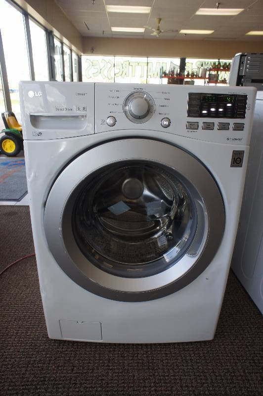 New - Scratch & Dent LG Model # (WM3270CW) - Front-Loading Washer - White COLOR -Tested Works! - MSRP $ 1199.99