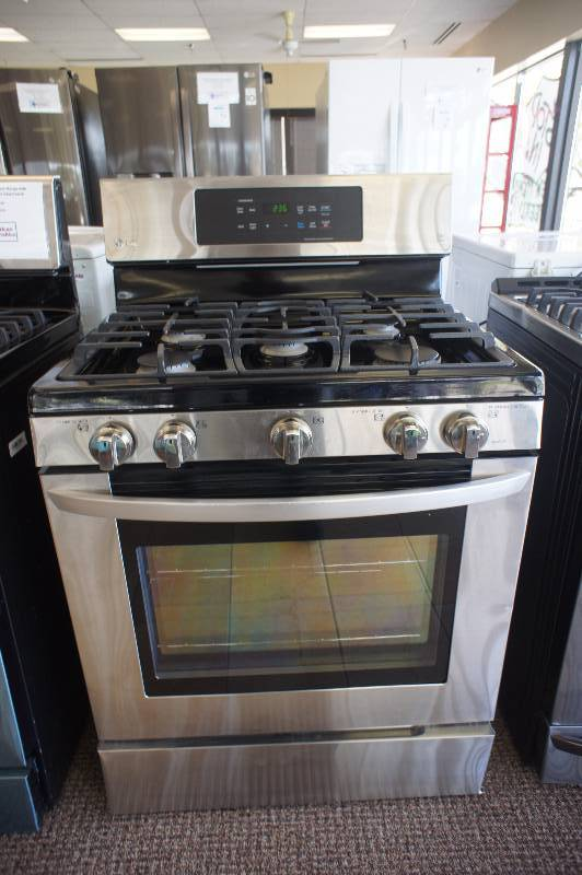 New - Scratch & Dent LG Model # (LRG3081ST) - 5.4 cu. ft. Large Capacity Gas Range w/ EasyClean® -Tested Works! - MSRP $ 1499.99