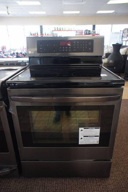 New - Scratch & Dent LG Model # (LRE3083BD) - 6.3 cu. ft. Free-Standing Electric Range - Black Stainless Steel -Tested Works! - MSRP $ 1699.99